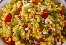 Recette salade de maïs et tomate ww