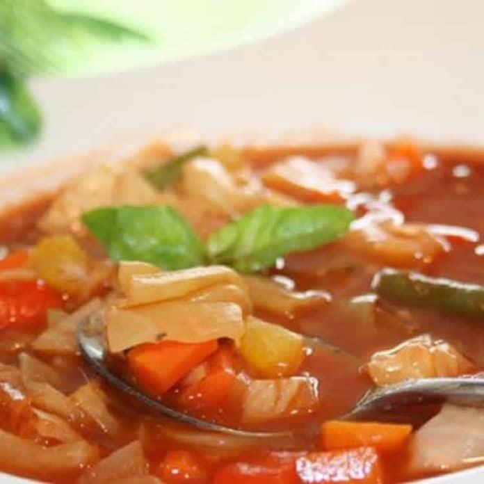 Recette soupe aux choux ww