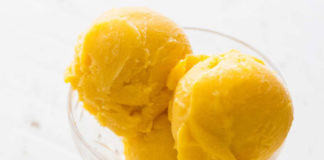 Sorbet mangue au citron au thermomix