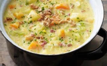Soupe pomme de terre poireaux au thermomix