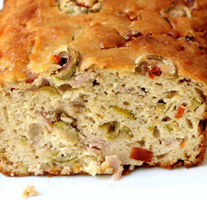 Cake au jambon et olives vertes au thermomix