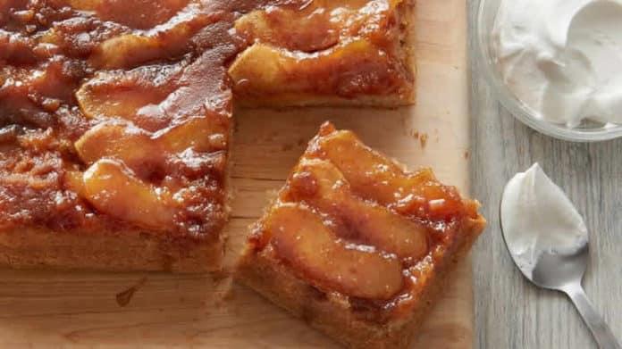 Cake caramélisé aux pommes au thermomix