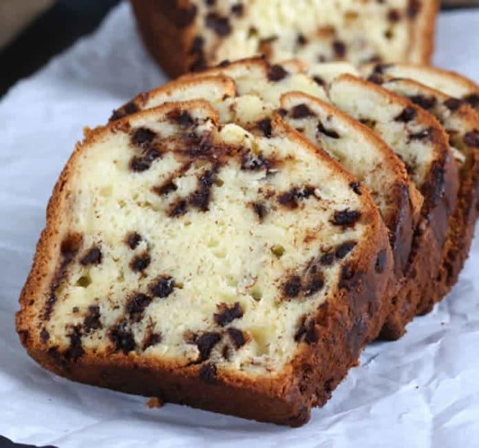 Cake yaourt et pépites chocolat au thermomix