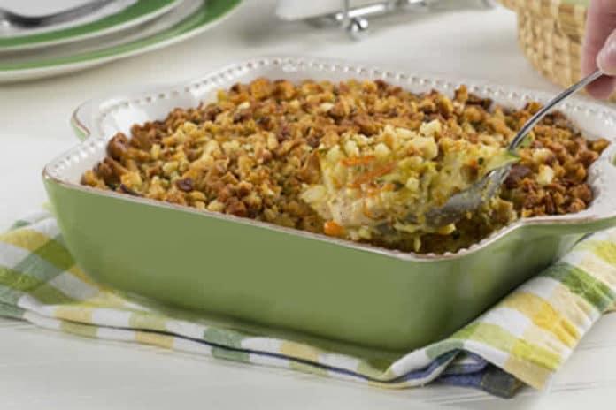 Crumble poulet courgettes et parmesan au thermomix