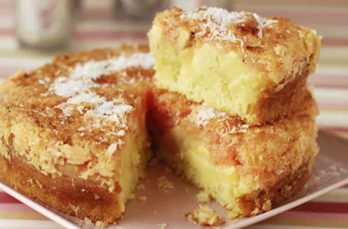 Gâteau moelleux aux pommes et noix de coco au thermomix