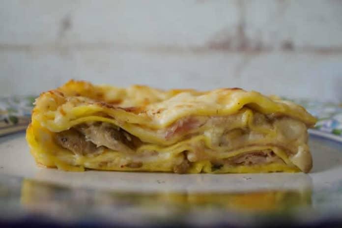 Lasagnes à la béchamel et au jambon au thermomix