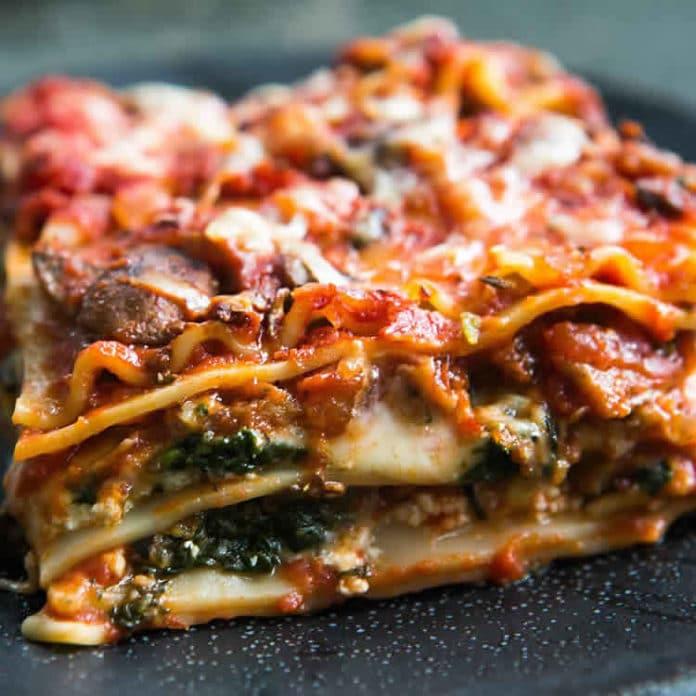 Lasagnes aux champignons et tomate au thermomix