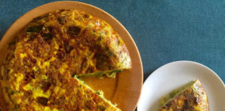 Omelette pomme de terre poireaux au thermomix