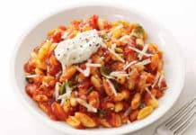 Pâtes à la tomate et ricotta ww
