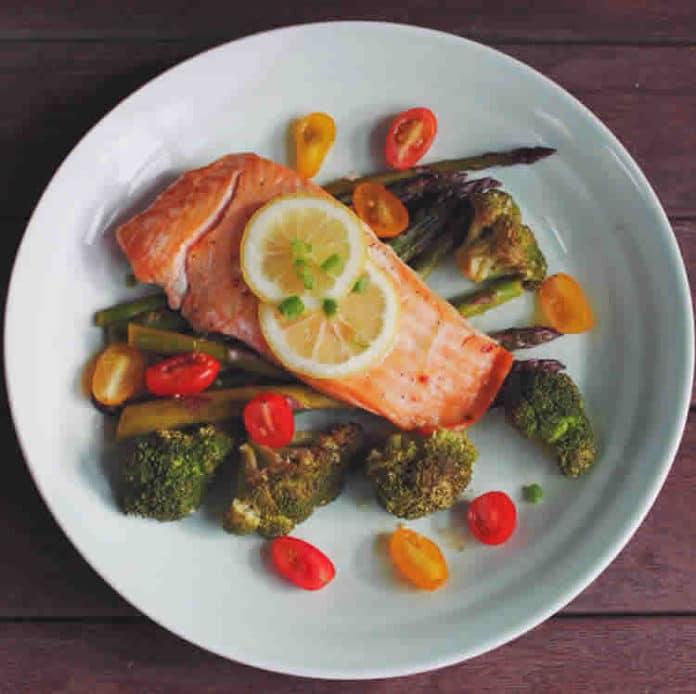 Papillote au saumon et aux légumes ww
