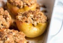 Pommes à la cannelle cuites au four