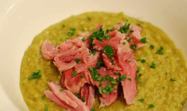 Purée de pois cassés facile au thermomix - la recette du plat.