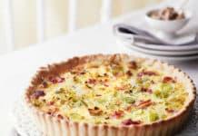 Recette tarte aux poireaux et lardons