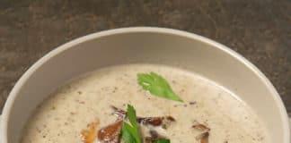 Soupe champignons et poireaux au thermomix