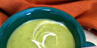 Soupe courgette et poireau au thermomix