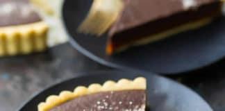 Tarte au chocolat et caramel au beurre salé au thermomix