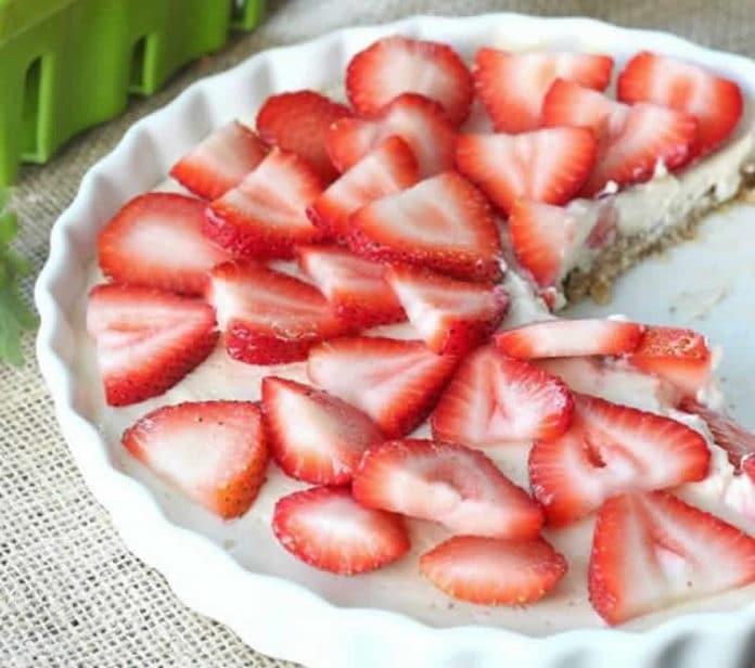 Tarte fraises mascarpone sans cuisson au thermomix