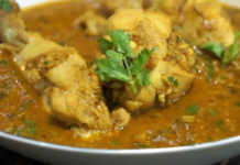 Poulet au curry et pois cassés ww