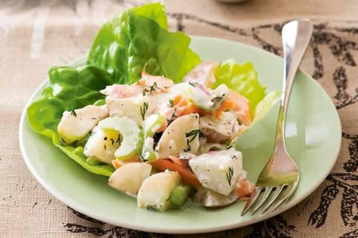 Salade pommes de terre et saumon au thermomix