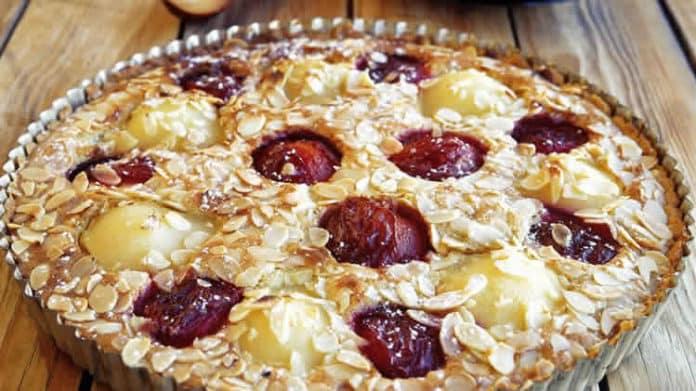 Tarte aux prunes et poires au thermomix