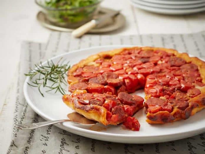 Tarte aux tomates et chorizo au thermomix