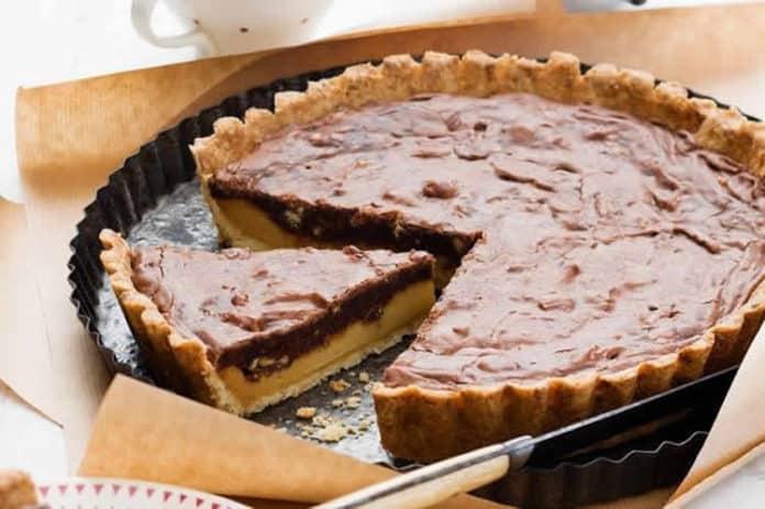Tarte chocolat et caramel au thermomix