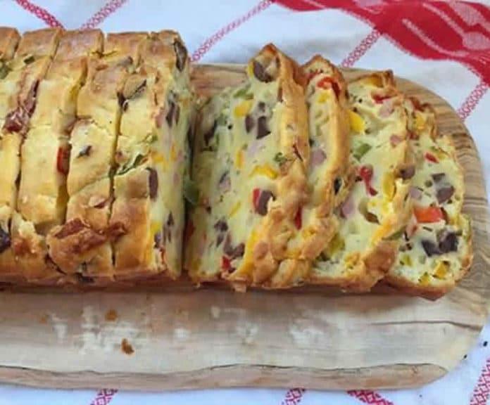 cake au jambon olives et poivrons au thermomix