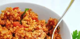 Boulgour poivrons et tomates au cookeo