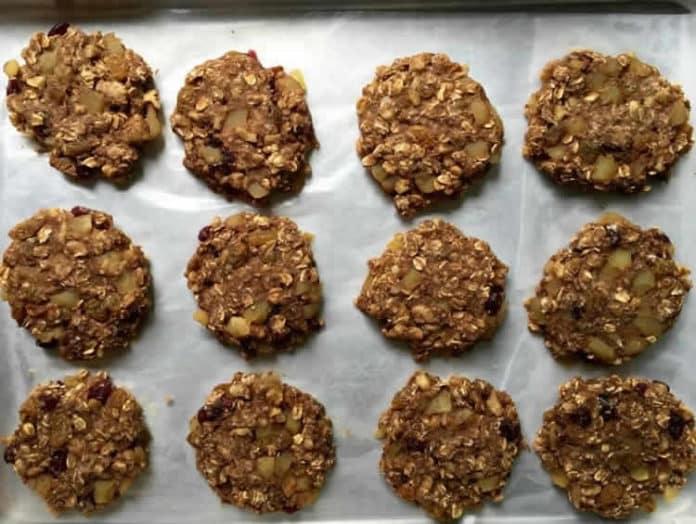 Cookies aux pommes à l'avoine ww