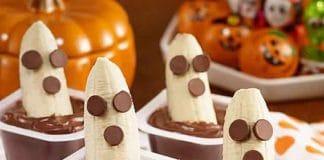 Dessert banane chocolat halloween