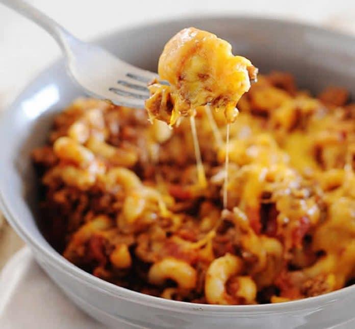 One pot pasta au cheddar et boeuf au cookeo