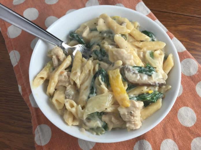 One pot pasta au poulet au cookeo