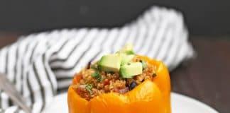 Poivrons farcis au quinoa halloween