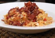 Poulet au riz et lardons au cookeo