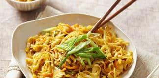 Poulet aux nouilles et curry au thermomix