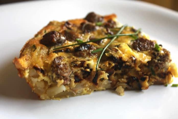 Quiche saucisses et pommes de terre au thermomix