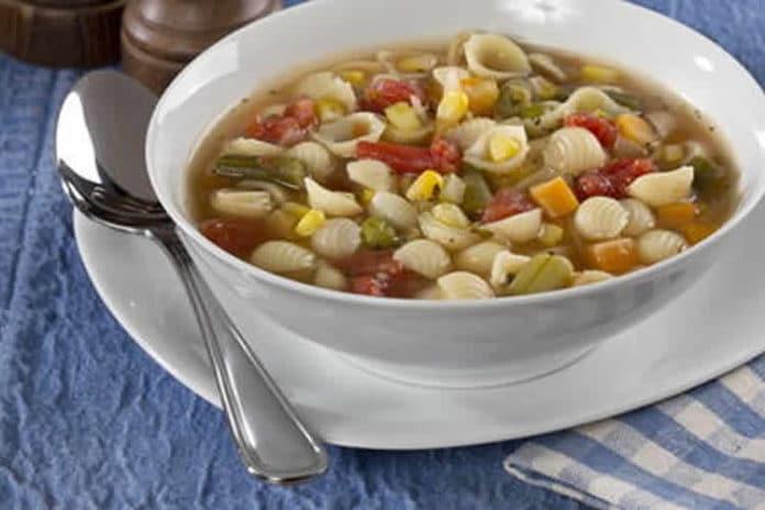 Recette de soupe de légumes et pâtes