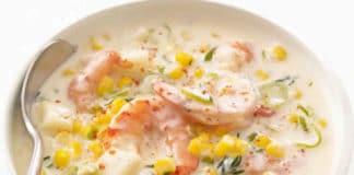 Soupe de maïs aux crevettes au cookeo