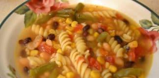 Soupe légumes aux pâtes au thermomix