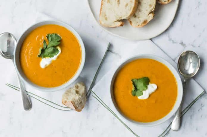 Soupe potiron et carottes au thermomix