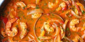 Soupe thai lait de coco et crevettes