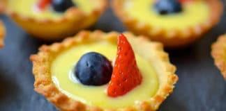 Tartelettes au citron et fruits rouges
