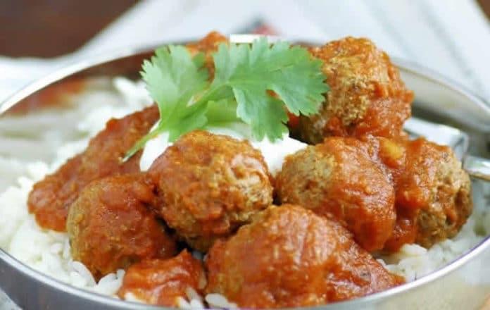boulette de viande hachée à l'indienne au cookeo