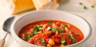 soupe pois chiche chorizo au cookeo