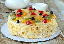 Cake aux fruits et à la crème