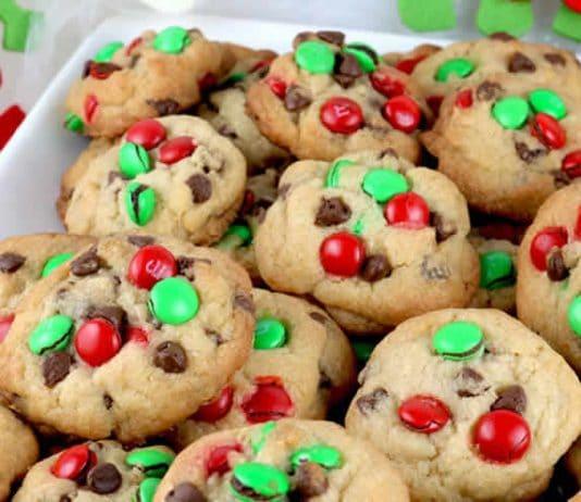Cookies chocolat et M&M's pour noël
