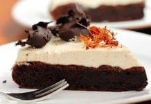 Gâteau chocolat à la mousse caramel