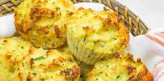 Muffins aux courgettes et cheddar au thermomix