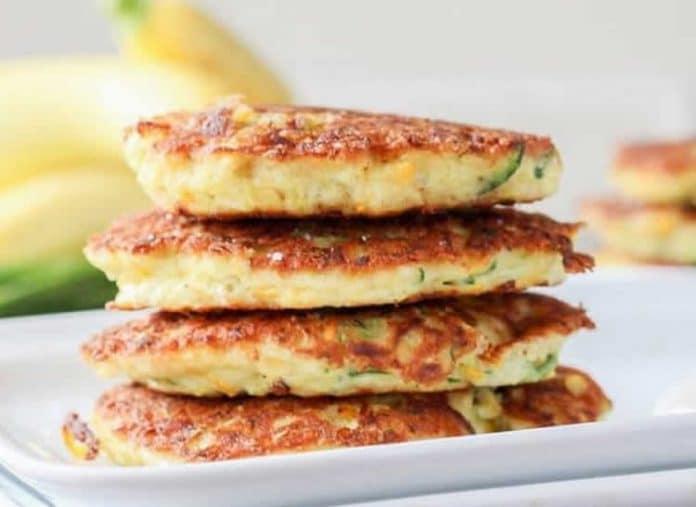 Pancakes aux courgettes et parmesan au thermomix