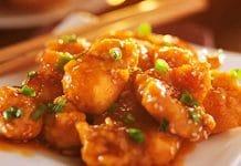 Poitrine de poulet à l'orange et mandarine